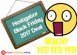 Hostgator Black Friday 2017 Deal - Get 75% OFF Discount Coupon Code